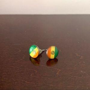 Indian flag stud earrings